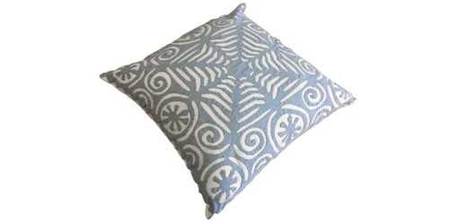 Foto produk Textiles And Rugs Aplique Cushion Motif 2 Blue di Arsitag
