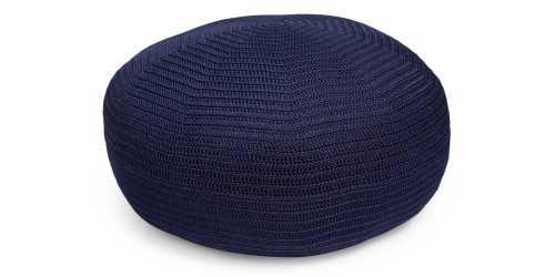 Foto produk  Brontes Crochet Pouf Navy Blue di Arsitag