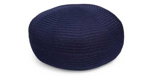 Brontes Crochet Pouf - Navy DécorTextiles And RugsCushions