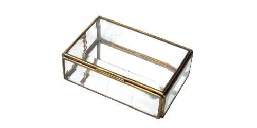 Vidre Jewelry Box Gold DécorHome Decorations
