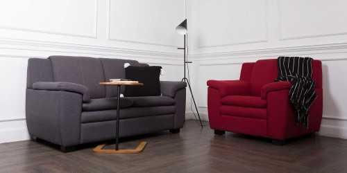 Zoey Armchair Graphite Vienna FurnitureSofa And ArmchairsArmchairs