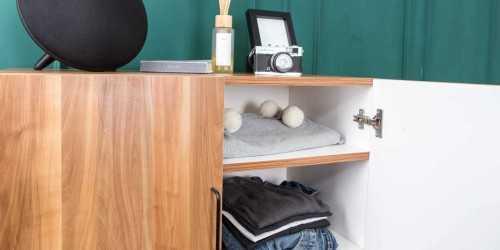 Foto produk  Iris 2 Door Cabinet Natural Finish di Arsitag