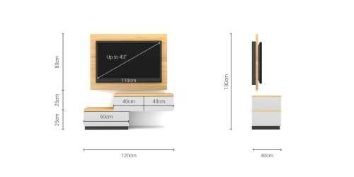 Foto produk  Case Cabinet  With Tv Panel Type A White-Alder di Arsitag