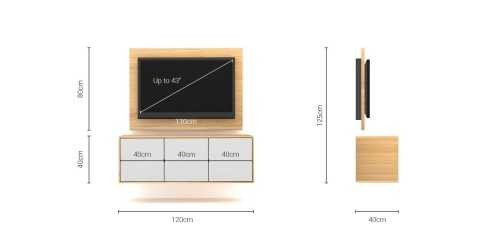 Foto produk  Case Cabinet  With Tv Panel Type B White-Alder di Arsitag