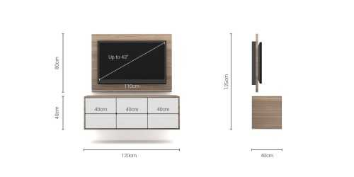 Foto produk  Case Cabinet  With Tv Panel Type B White-Mocha Maple di Arsitag