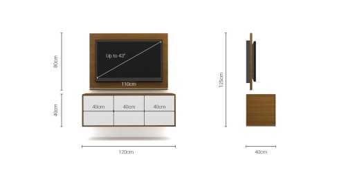 Foto produk  Case Cabinet  With Tv Panel Type B White-Rosewood di Arsitag