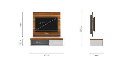Foto produk  Case Cabinet  With Tv Panel Type D White di Arsitag