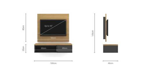 Foto produk  Case Cabinet  With Tv Panel Type D Dark Grey-Desert Oak di Arsitag