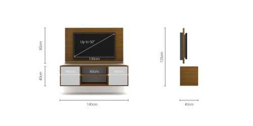 Foto produk  Case Cabinet  With Tv Panel Type C White-Rosewood di Arsitag