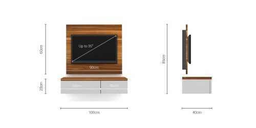 Foto produk  Case Cabinet  With Tv Panel Type E Dacia Cream di Arsitag