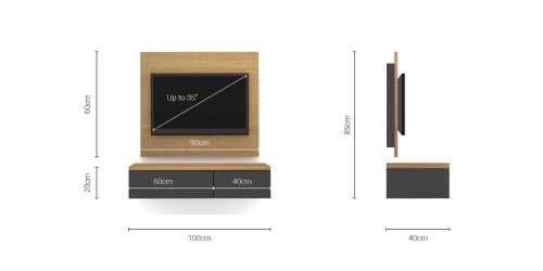 Foto produk  Case Cabinet  With Tv Panel Type E Dark Grey di Arsitag