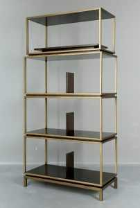 Gio Collection-T-024 - Etagere Truffle FurnitureStorage Systems And UnitsDisplay Cabinets