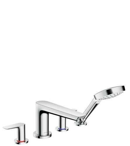 4-Hole Rim Mounted Bath Mixer BathroomBathroom TapsBathtub Taps