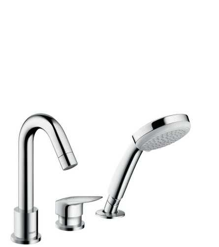 Foto produk  3-Hole Rim Mounted Single Lever Bath Mixer di Arsitag