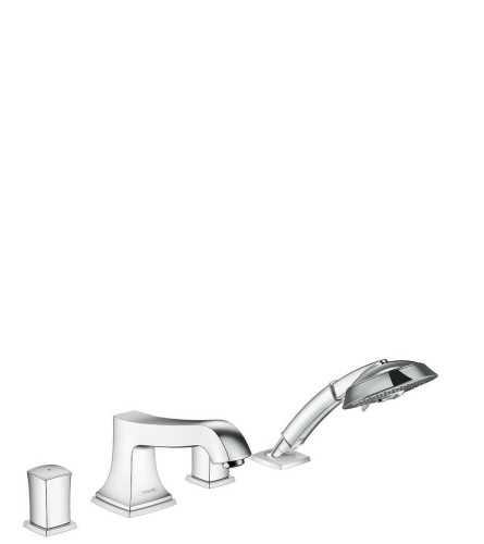 4-Hole Rim Mounted Bath Mixer With Zero Handles BathroomBathroom TapsBathtub Taps