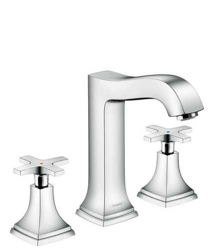 3-Hole Basin Mixer 160 With Cross Handle And Pop-Up Waste Set BathroomBathroom TapsBathtub Taps