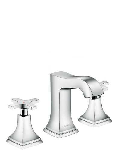 Foto produk  3-Hole Basin Mixer 110 With Cross Handle And Pop-Up Waste Set di Arsitag