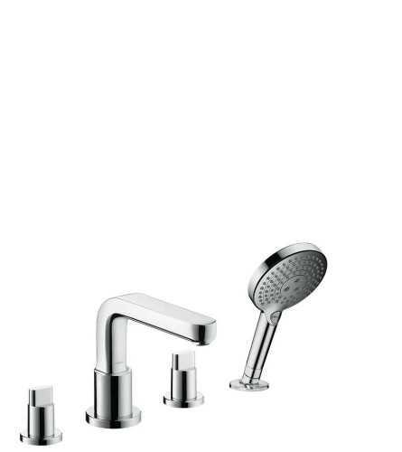 Hg 4-Hole Bath Mixer Metris S Finish Set BathroomBathroom TapsBathtub Taps