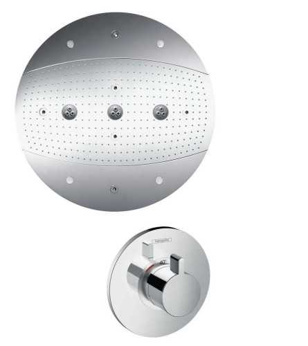 Overhead Shower 600 3Jet With Lighting Set BathroomShowers And BathtubsOverhead Showers