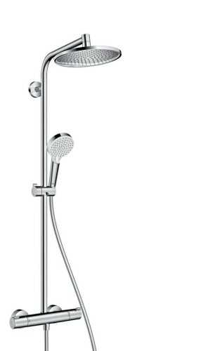 Showerpipe 240 1Jet With Thermostat BathroomShowers And BathtubsShower Panels