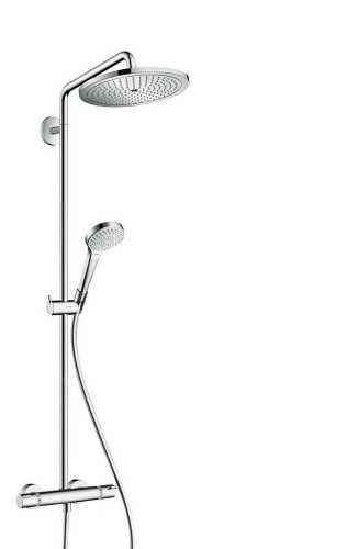 Showerpipe 280 1Jet With Thermostat BathroomShowers And BathtubsShower Panels