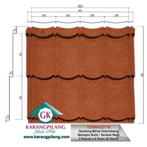 Terracotta ConstructionRoofsSheets And Panels For Roofs