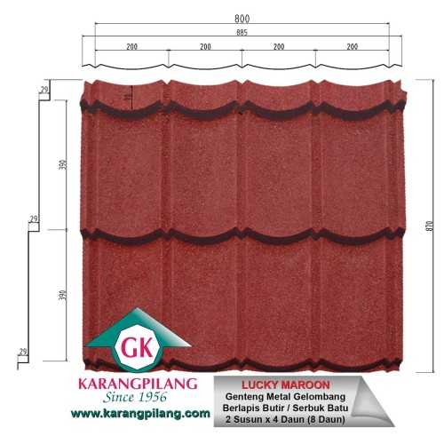 Lucky Maroon ConstructionRoofsSheets And Panels For Roofs
