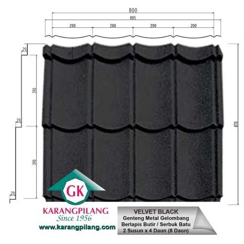 Velvet Black ConstructionRoofsSheets And Panels For Roofs