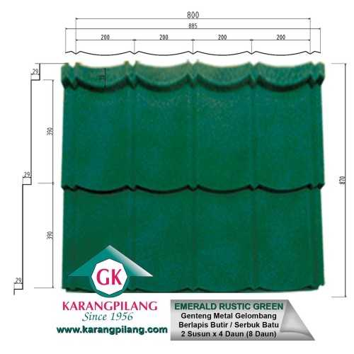Emerald Rustic Green ConstructionRoofsSheets And Panels For Roofs