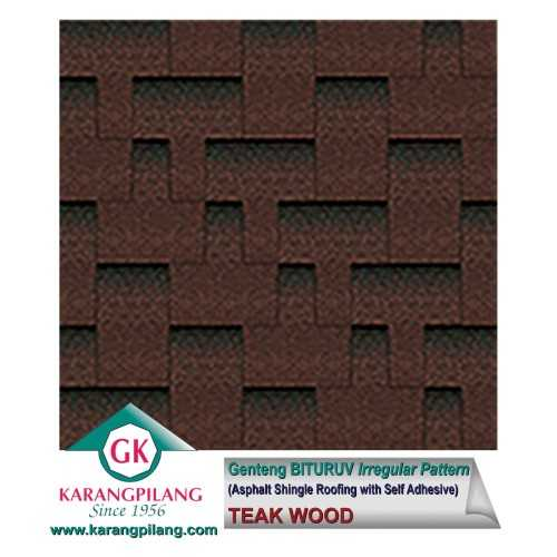 Teak Wood (Irregular Pattern) ConstructionRoofsSheets And Panels For Roofs