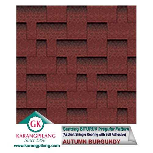 Autumn Burgundy (Irregular Pattern) ConstructionRoofsSheets And Panels For Roofs