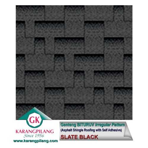 Slate Black (Irregular Pattern) ConstructionRoofsSheets And Panels For Roofs