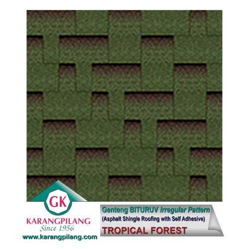 Tropical Forest (Irregular Pattern) ConstructionRoofsSheets And Panels For Roofs