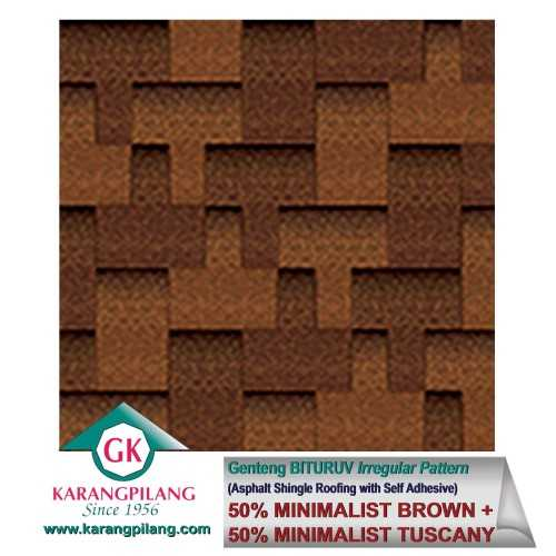 50% Minimalist Brown + 50% Minimalist Tuscany (Irregular Pattern) ConstructionRoofsSheets And Panels For Roofs