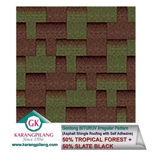Foto produk  50% Tropical Forest + 50%  Slate Black (Irregular Pattern) di Arsitag