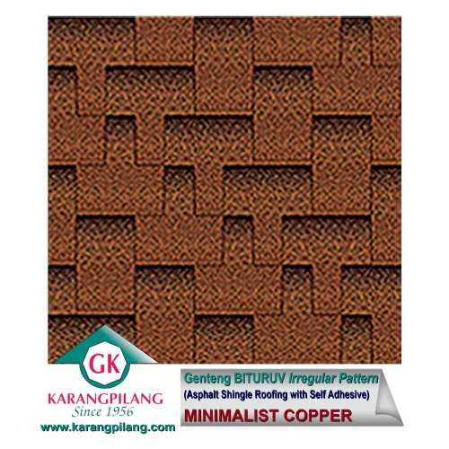 Minimalis Copper (Irregular Pattern ConstructionRoofsSheets And Panels For Roofs