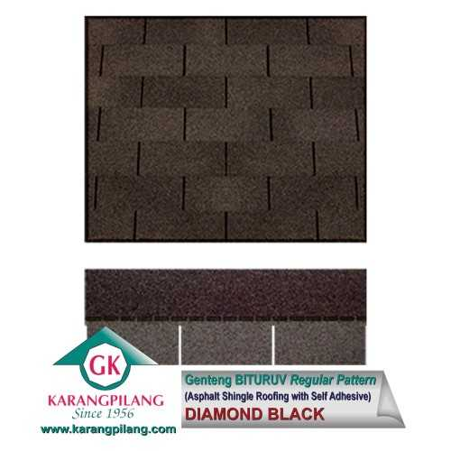 Diamond Black (Regular Pattern) ConstructionRoofsSheets And Panels For Roofs