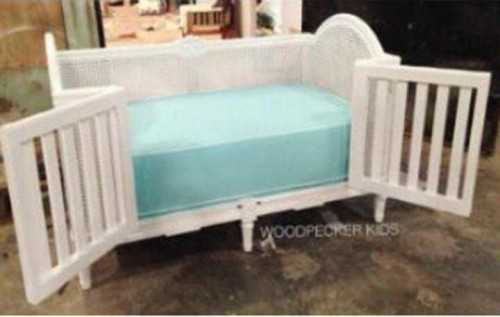 Addie Baby Crib With Rattan FurnitureSleeping Area And Children BedroomBeds