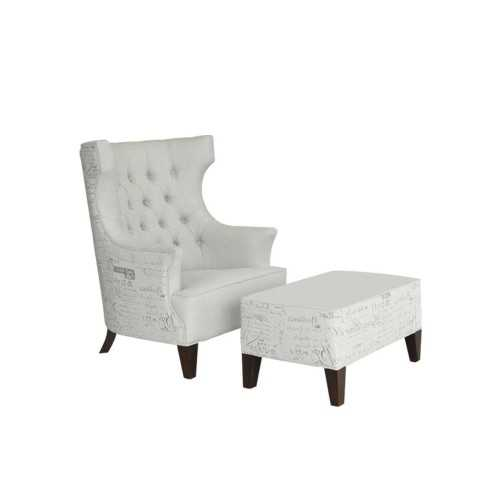 Living Room Chairs&daybeds-Armchairs,lounge Chairs&ottoman/our Collections Vl Brio (Verona Wing Chair + Ottoman) FurnitureSofa And ArmchairsSofas